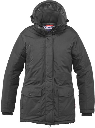 DAD Carlton Hill Parka Dames-Zwart-XXL