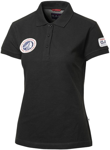 DAD Eaton Dames Branded Polo-Zwart-S