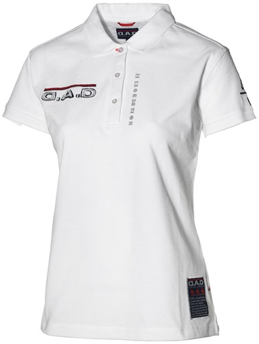 DAD Eaton Dames Branded Polo-Wit-S