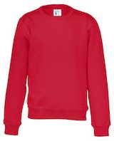 CottoVer Crew Neck Trui Kids-Rood-100