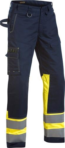 Blaklader 14781506 Multinorm broek Navy/Geel