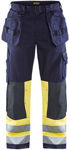 Blaklader 14791514 Multinorm werkbroek Navy/geel