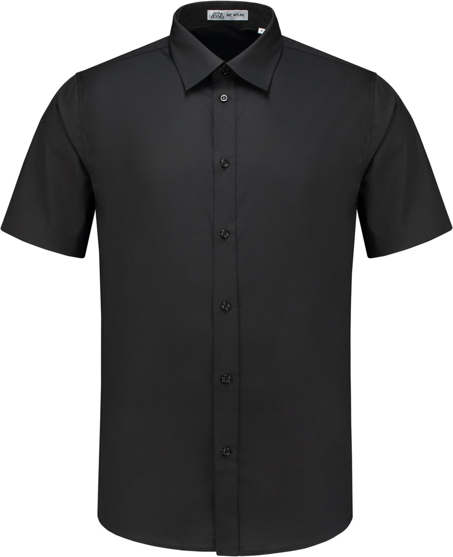 Heren Overhemd Zwart.Heren Overhemd Brad Km Zwart Workwear4all