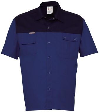 Havep 2000 Hemd korte mouw-S-Korenblauw/Marine