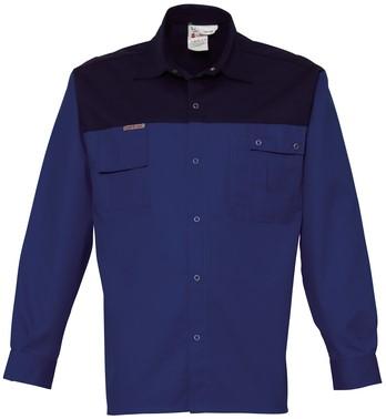 Havep 2000 Hemd lange mouw-S-Korenblauw/Marine
