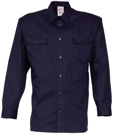 Havep Worker Hemd lange mouw-S-Marineblauw