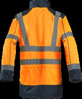 Sioen Anfield Signalisatie Regenparka-S-Fluo Oranje/Marine-2