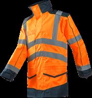 Sioen Anfield Signalisatie Regenparka-S-Fluo Oranje/Marine-1