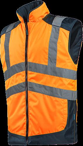 Sioen Burton Omkeerbare Bodywarmer-S-Fluo Oranje/Marine