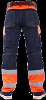 CrossHatch Spijkerbroek Toolbox-FO-30-34-Fluor Oranje-2