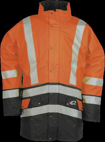 Sioen Bron Signalisatie Regenjas-S-Fluo Oranje/Marine