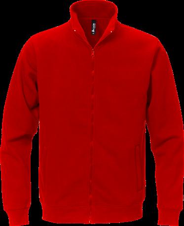 Acode Sweater met volledige rits-Rood-S