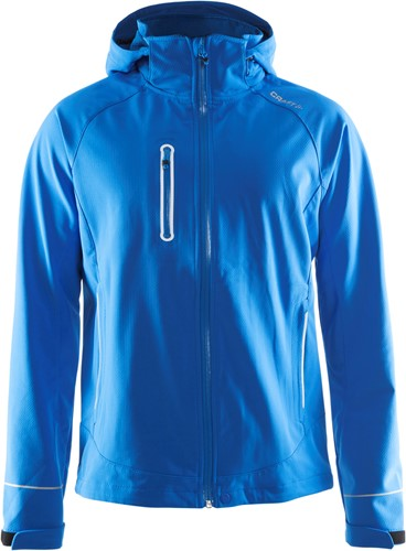 Craft Cortina Soft Shell Jas-S-Swed. Blauw
