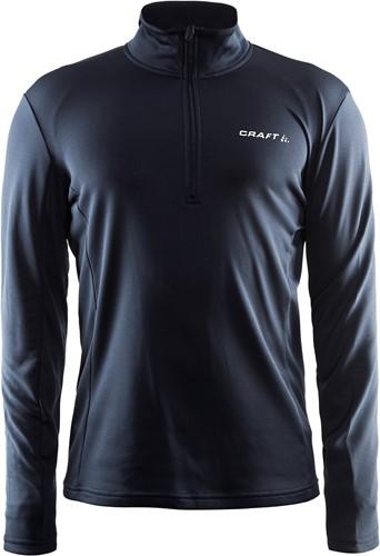 Craft Halfzip Sweater-Donker grijs-XS