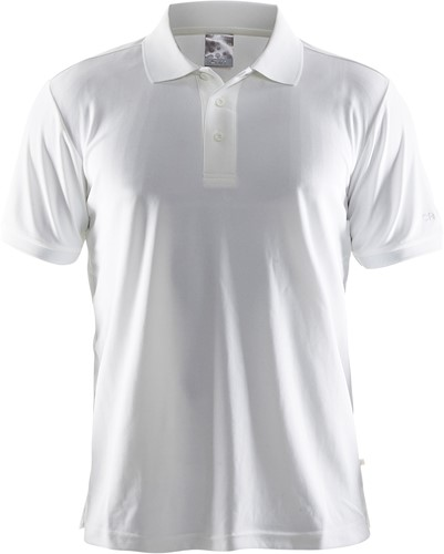 Craft Pique Classic Polo-Wit-XS