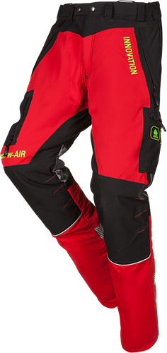 SIP Zaagbroek 1SNC-833-XS-Rood/Zwart-Kort