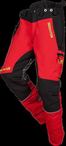 SIP Zaagbroek 1SNW-833 P-Kort-XS-Rood/Zwart