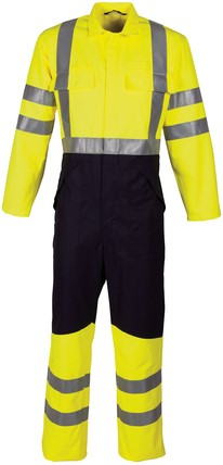 Havep Multi Protector Overall-H46-Marine/fluo geel