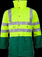 Sioen Stormflash Signalisatie Winter Regenparka-S-Fluo Geel/Groen-1