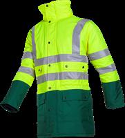 Sioen Stormflash Signalisatie Winter Regenparka-S-Fluo Geel/Groen-2