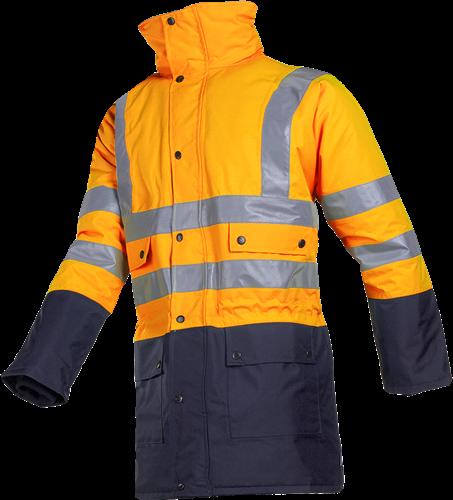 Sioen Stormflash Signalisatie Winter Regenparka-S-Fluo Oranje/Marine