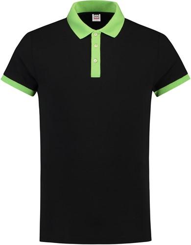Tricorp PBF210 Poloshirt Bicolor Slim Fit -XXS-Zwart/Lime