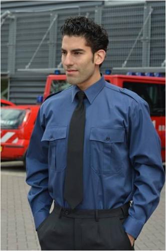 Heren Pilot shirt - LM Marine blauw