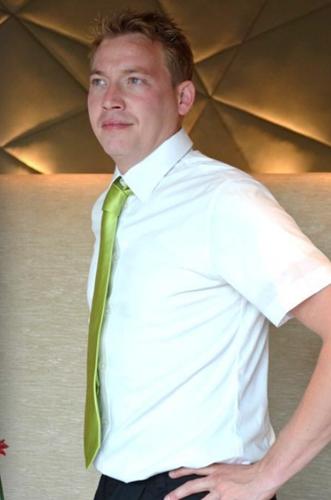 Heren overhemd Brad KM - Zwart