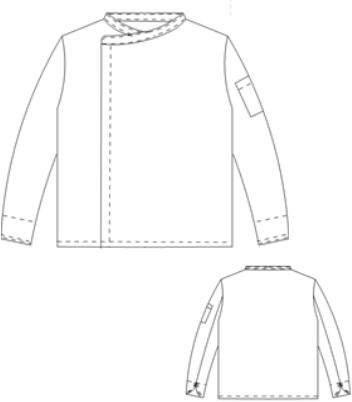 Heren koksbuis Lennard - Zwart-3