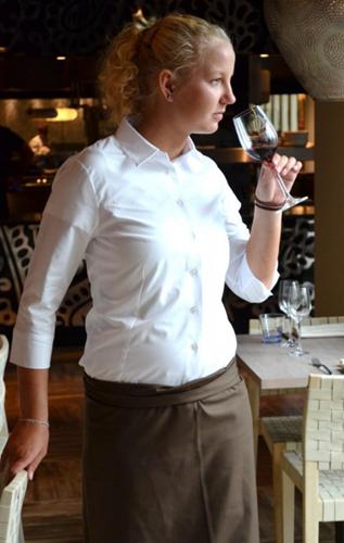 Dames blouse Julie 3/4 mouw - Zwart-2