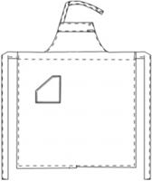 Halterschort met zak - Zwart-3
