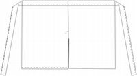 Basic sloof met split - Zwart-3