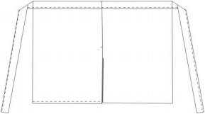 Basic sloof met split - Zwart