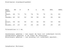 LNA Knitwear Maattabel-97