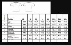 CG Workwear Maattabel-232