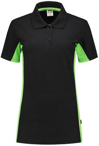 Tricorp 202003 Poloshirt Bicolor Dames -XS-Zwart/Lime