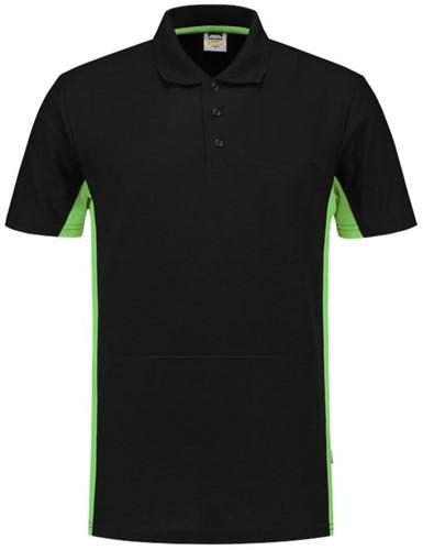 Tricorp 202004 Poloshirt Bicolor -XS-Zwart/Lime