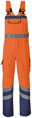 Havep High Visibility Amerikaanse overall/Bretelbroek-Fluo oranje/marineblauw-H46