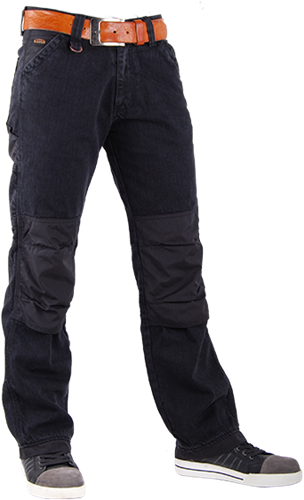CrossHatch Spijkerbroek Toolbox-BC - Zwart