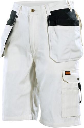Jobman 2160 Short wit Line  wit/zwart
