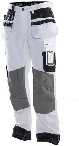 Jobman 2171 Schildersbroek wit/zwart