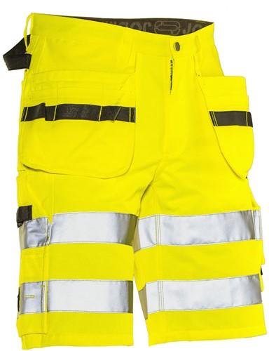 Jobman 2207 Korte Werkbroek met Holsterpocket  Hi-Vis KL.2