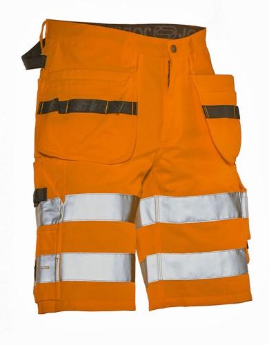 Jobman 2207 Korte Werkbroek met Holsterpocket  Hi-Vis KL.2-Oranje-C46
