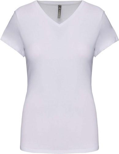 Kariban K3015 Dames-t-shirt V-hals korte mouwen