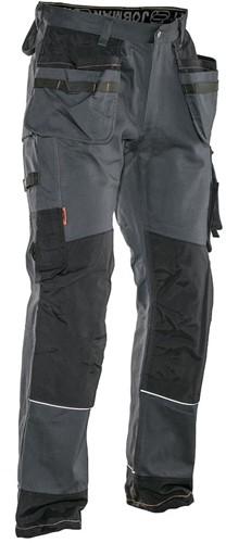 Jobman 27 Werkbroek HP katoen-Grijs/Zwart-C146