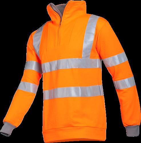 Sioen Bindal Signalisatie Sweater-S-Fluo Oranje/Grijs