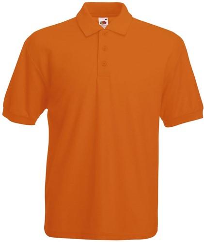 SALE! Fruit of the Loom SC280 Polo-shirt - Oranje - Maat M