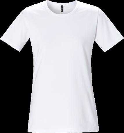 Acode Dames T-shirt korte mouw en ronde hals-Wit-XS