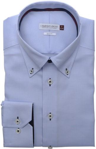 J.H&F Red Bow 26 Regular Fit Overhemd-S-Sky blauw