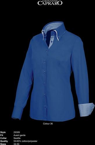 Giovanni Capraro 29309-36 Blouse - Donker Blauw [Blauw accent]